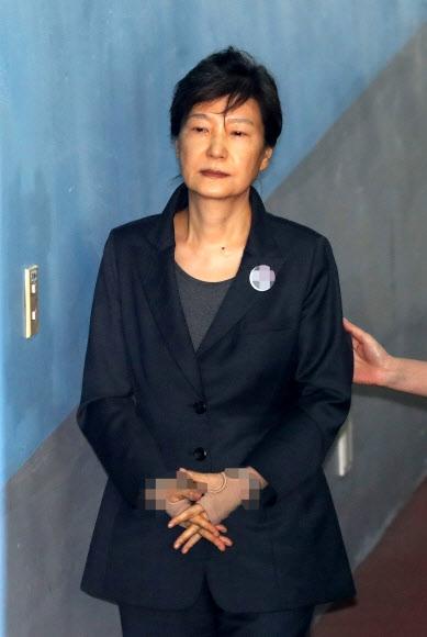 70차 공판 출석하는 박근혜