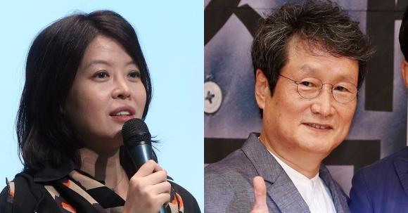 배우 김여진씨와 문성근씨.  연합뉴스