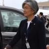[서울포토] '문재인 대통령 수행'…뉴욕 간 강경화 외교부 장관