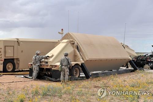 """주한미군 책자 """"사드레이더, 최대 1천㎞거리 미사일위협 탐지"""" [연합뉴스 자료사진]"""