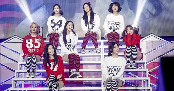 지난 8월 10주년 팬미팅 당시 소녀시대 모습  SM엔터테인먼트 제공