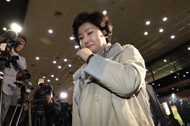 경찰 출석하는 故 김광석 부인 서해순씨