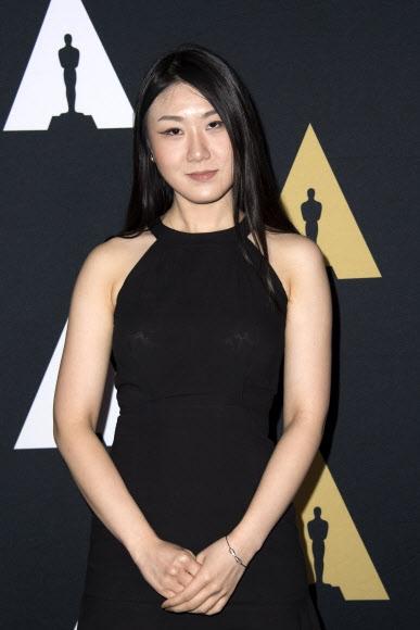 12일(현지시간) 미국 캘리포니아주 베벌리 힐스의 LA 사무엘 골드윈 극장에서 열린 '제44회 스튜던트 아카데미상(Students Academy Awards)' 시상식에 조영글씨가 애니메이션 부문에서 수상했다.  AFP 연합뉴스
