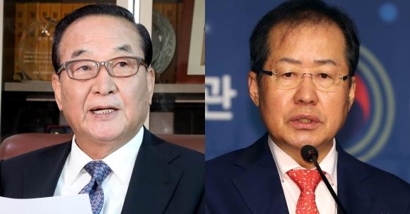 홍준표 서청원 최경환에 '바퀴벌레' 비유 자유한국당 서청원 의원과 홍준표 대표  연합뉴스
