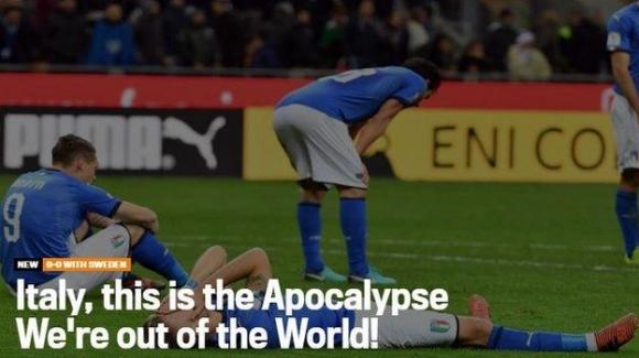 이탈리아 매체 가제타 델로 스포르트가 자국 축구가 월드컵 무대에 60년 만에 서지 못하는 것을 지옥의 묵시록과 같다고 탄식했다.