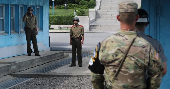 2017년 7월 판문점 모습.  연합뉴스