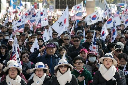 박정희 탄생 100돌 맞아 열린 태극기 집회