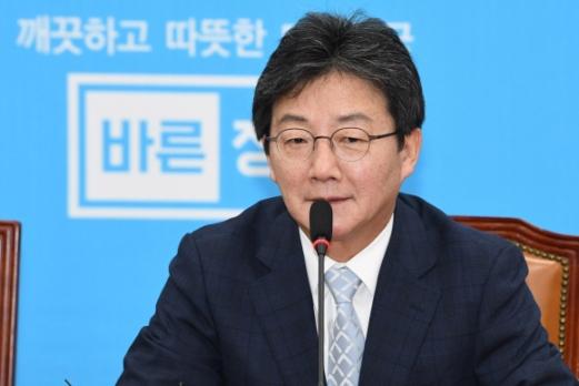 바른정당 유승민 대표가 15일 국회에서 열린 최고위원-국회의원 연석회의에서 발언하고 있다. 도준석 기자 pado@seoul.co.kr