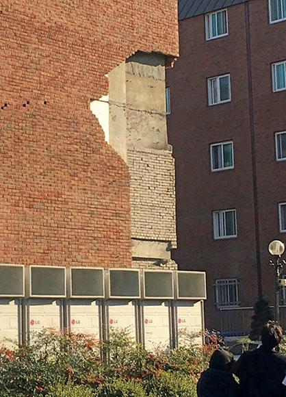 지진으로 파손된 한동대