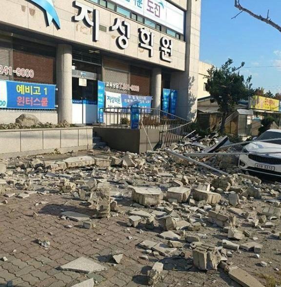 포항 지진 현장 2017.11.15.  서울신문 독자 제공