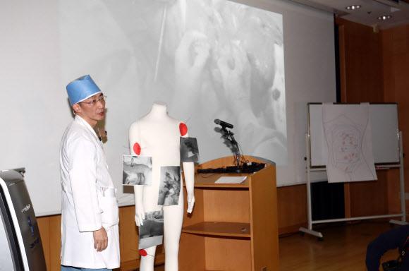 북한 귀순 병사 수술결과 브리핑하는 이국종 교수