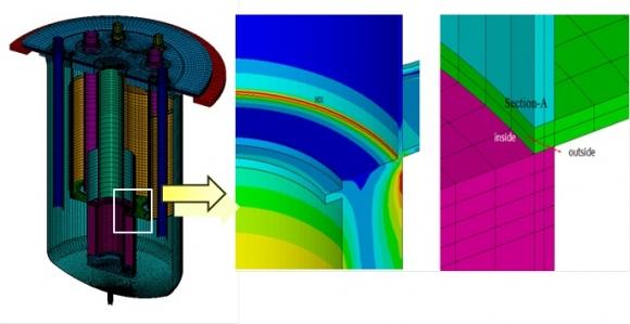 원전 설계건전성을 평가할 때 주목하는 원자로의 핵심 부위 한국원자력연구원 제공