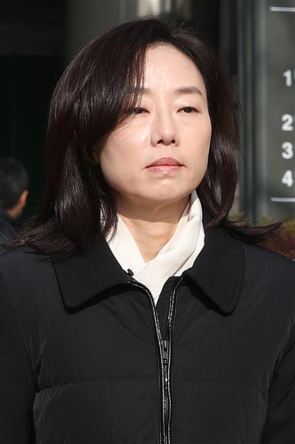 항소심 마친 조윤선 '담담한 표정'