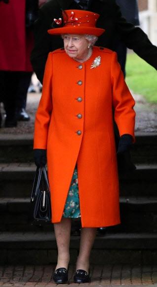 엘리자베스 2세 영국 여왕. 샌드링엄 AP 연합뉴스