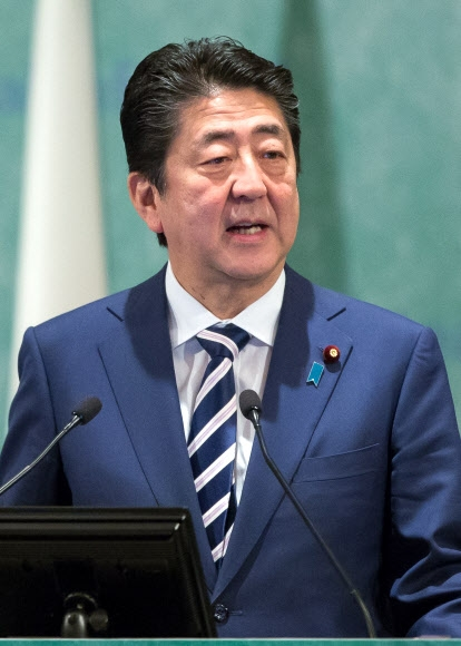 아베 신조 일본 총리. EPA 연합뉴스