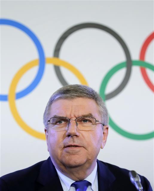 토마스 바흐 IOC 위원장. 로이터 연합뉴스