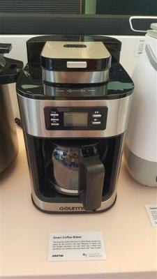 구글 어시스턴트가 탑재된 커피 메이커.  라스베이거스 이재연 기자 oscal@seoul.co.kr