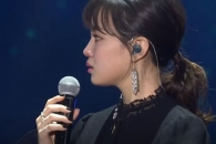 '골든디스크' 이하이, 故 종현 작사·작곡한 '한숨' 열창 중 눈물