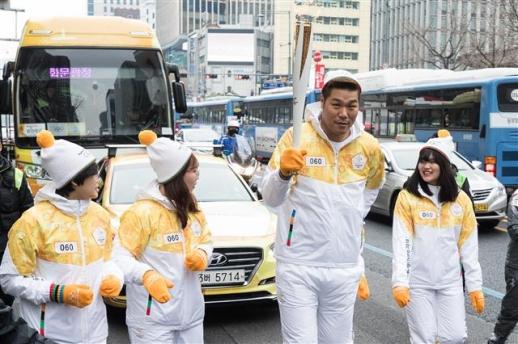평창올림픽 성화봉송 주자로 나선 서장훈