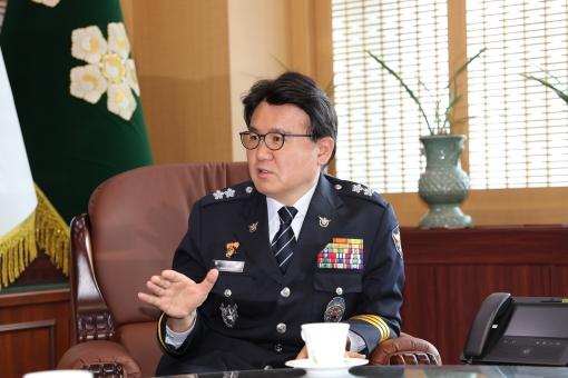 황운하 울산지방경찰청장.