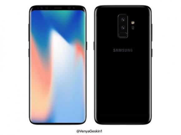 삼성전자의 차기 프리미엄 스마트폰 '갤럭시S9'과 LG전자의 'G7'(가칭)의 출시가 임박하자, 해외 유명 IT 블로거 등이 이들 제품의 추정 이미지를 쏟아내고 있다. 갤럭시S9의 추정사진. 게스킨 트위터