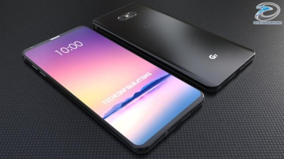 삼성전자의 차기 프리미엄 스마트폰 '갤럭시S9'과 LG전자의 'G7'(가칭)의 출시가 임박하자, 해외 유명 IT 블로거 등이 이들 제품의 추정 이미지를 쏟아내고 있다. LG전자의 새 제품 추정 이미지. 테크콘피그레이션 유튜브