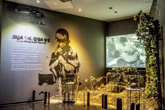 고성의 DMZ박물관 내부 모습.