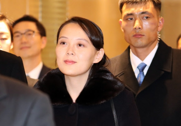 인천 도착한 김여정