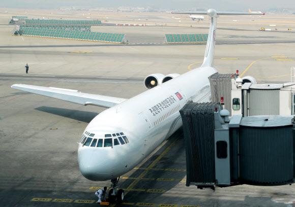 김여정 일행 전용기 인천공항 도착