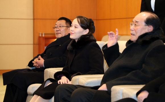 환담하는 북측 고위급 대표단