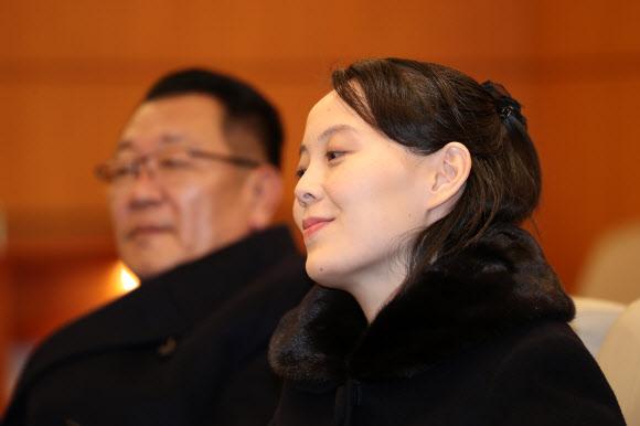 북 김여정, 여유있는 표정