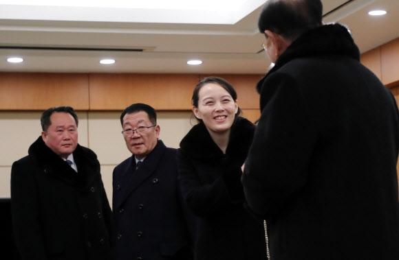 김여정, 밝은 웃음
