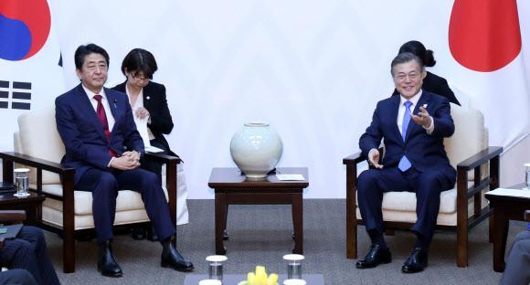 [올림픽] 문 대통령, 일본 아베 총리와 정상회담