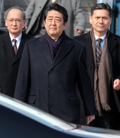 [올림픽] 한국 도착한 아베 총리