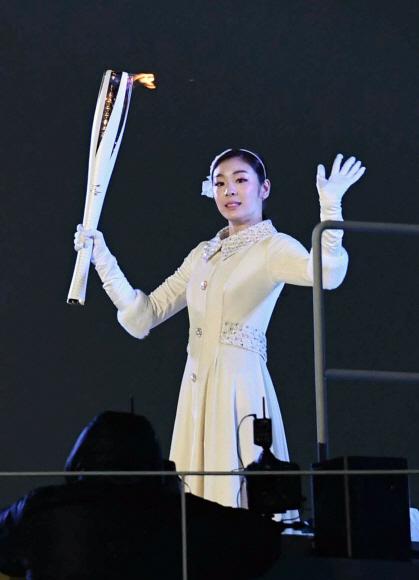 '피겨여왕' 김연아, 역시 성화 최종 주자