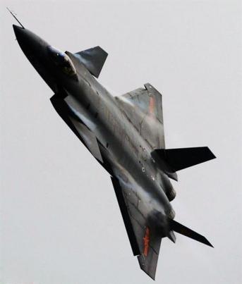 중국의 'J20' 전투기.