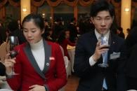 [포토] '어색한 우리' 남북 시범단원들의 건배