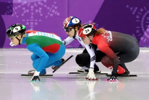 [올림픽] 최민정, 캐나다의 킴 부탱과의 접촉으로 실격