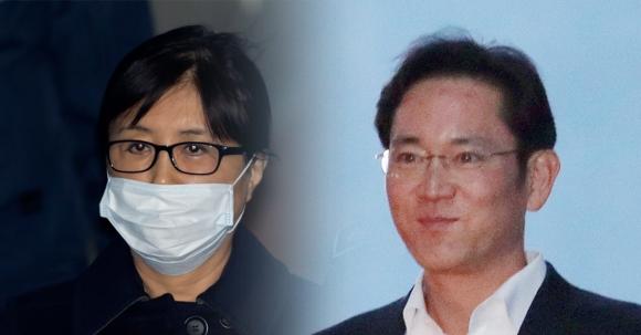 최순실씨와 이재용 삼성전자 부회장  서울신문