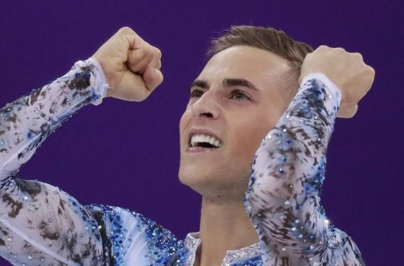 평창 동계올림픽 피겨스케이팅 미국 대표팀 아담 리폰.  AP 연합뉴스