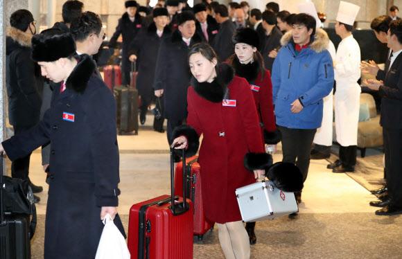 북한으로 돌아가는 태권도 시범단