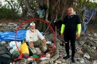악어섬에 조난당한 남성이 구조 거부한 사연