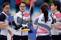 [서울포토] 작전짜는 여자 컬링 대표팀