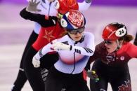 [서울포토] 결승선 통과…쇼트트랙 여자 3000m 계주 '…