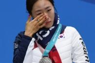 [서울포토] 은메달 목에 건 이상화 '눈물'