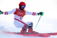 미끄러진 스키 황제