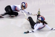 심석희·최민정, 女 1,000m 결승에서 충돌…'노메달…