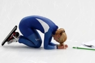 김보름, 매스스타트 은메달 '눈물' 관중에 큰절