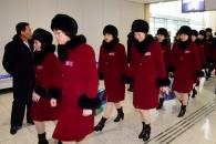 [서울포토] 떠나는 북한 여자아이스하키 선수단