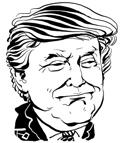도널드 트럼프 미국 대통령 캐리커처